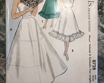 McCall's - Printed Pattern - 8728 - Misses' petticoat and camisole - two lengths