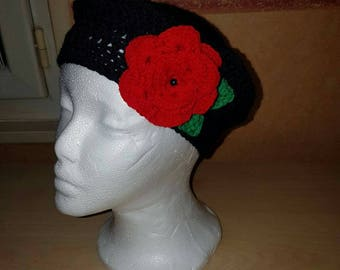 crocheted adult beret for other color available