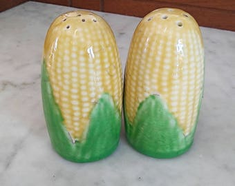 Vintage Thanksgiving Corn Salt and Pepper Shakers