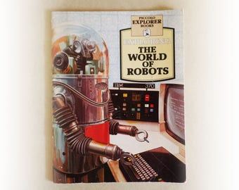 Piccolo Explorer Books - Exploring the World of Robots - vintage paperback booklet - 1978