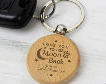 Personalised Keyring,Wooden Gift,Keyring,Father's Day,Mother's day,Him,Her,Gifts for Men,New Car,New Driver,Christmas,Birthday,