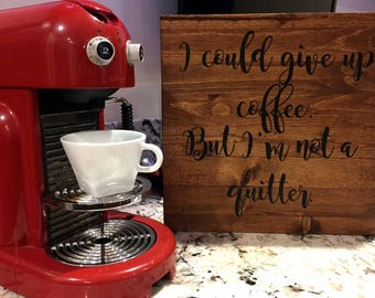 Coffee Wooden Sign
