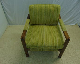 Mid Century Modern Pecan Arm Chair By Drexel