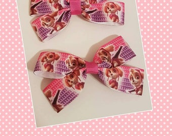 2x Sky Paw Patrol hair clips
