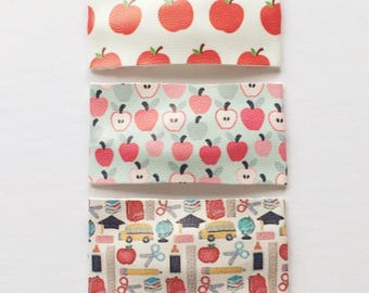 Back-to-SCHOOL/FALL APPLES snap clip or alligator clip