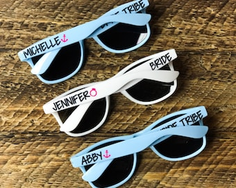 Personalized Sunglasses, Wedding Favors, Bachelorette Party, Girls Weekend, Bridesmaid Gift, Bridal Party,Bridal Gifts, Custom Sunglasses