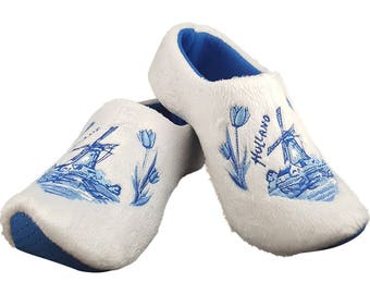Original Dutch slippers motif windmill
