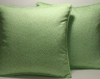 "Animal Print Throw Pillows, Green Decorative Pillows, 2 18"" Cheetah Animal Print lime Green Fabric  & Forms,Accent Pillows,Home Decor"