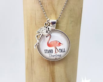 Flamingo chain, chain, gift for her, gift for friend, necklace with pendant