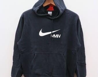 Vintage NIKE MMIV Sportswear Black Hoodies Sweater Sweatshirts Size M