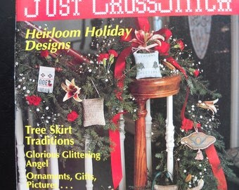 Just Cross Stitch 1989 Special Christmas Issue - 28 Ornaments & More!