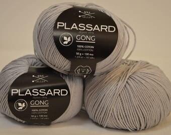 """Plassard """"Gong"""" gray cotton"""