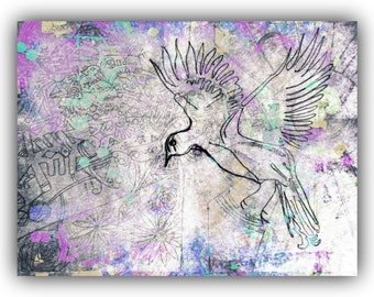 Colourful digital art print/nature inspired/scrapbooking material/journaling supplies