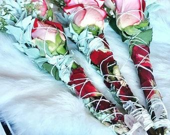 Desert Rose Smudge Wand
