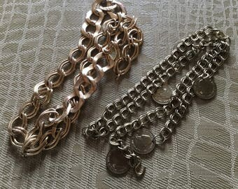 Vintage Gold Chain Belts 37 inches