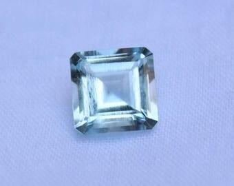 3.77 Cts Natural Aquamarine Shape Octagon Blue Faceted 9.76x9.76mm Loose Gemstone Perfect For Ring