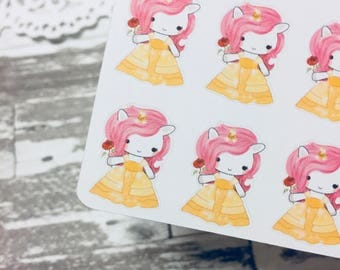 Belle Unicorn Sticker | Unicorn Series Sticker | Character Sticker