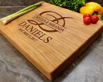 "Personalized Chopping Block 12x15x1.75"" - Engraved Butcher Block, Custom Chopping Block, Housewarming Gift, Wedding Gift #27"