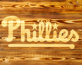 Philadelphia Phillies Wood Decor Philadelphia Phillies Wood Sign Philadelphia Phillies Gift Philadelphia Phillies Party
