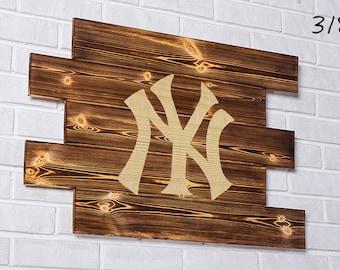 New York Yankees Wood Sign  New York Yankees Wall art  New York Yankees Gift  New York Yankees Birthday  New York Yankees Party wooden