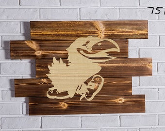 kansas jayhawks Wood Sign  kansas jayhawks Wall art  kansas jayhawks Gift  kansas jayhawks Birthday  kansas jayhawks Party wooden
