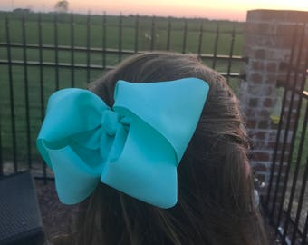 6 inch Turquoise hair bow