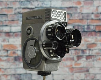 Vintage Yashica 8 E III Super 8 Movie Camera with triple lens - 8mm Video Camera