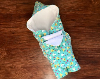 Hooded Baby Towel, Baby Bath Towel, Mouse Print, Baby Shower Gift, Baby Girl, Teal Towel, Beach Towel, Hooded Wrap, Baby Branch Boutique
