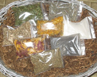 Assorted Herbs; Organic, Wildcrafted  1/2 oz bags