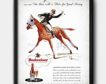 Budweiser Advertisement · 1930s · Instant Download · Beer · Vintage · Printable #160