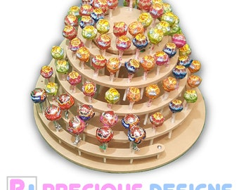 96 cake pop lollipop decoration display floating spiral candy sweet stand
