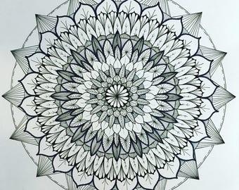 """11"""" Square Mandala"""