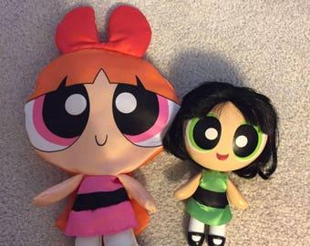 Power puff girls dolls set of 2