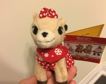 Rudolph the red nose reindeer clarice plush keychain