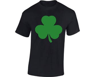 Shamrock Shirts for Men Shamrock Green T-Shirt Lucky Shirts for St. Patrick's Day Irish Gifts for Him Green Irish Clover Outfits St. Paddy's
