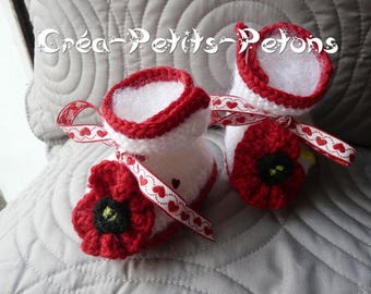 Poppies knit baby boots booties