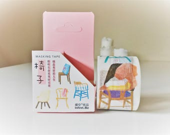 Furniture washi tape, decorative tape, washi tape uk, masking tape, washi tape 30mm, planner stickers, bullet journal stickers