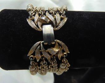 Vintage 1940's, Lisner, bracelet, multi chain, shipped free