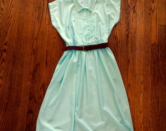 Vintage Teal Dress | Summer Dress | Vintage Dress