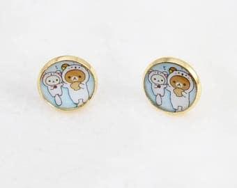Rilakkuma Otter Stud Earrings