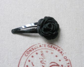 Black Rose flower Bobby pin