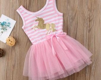 Little Girl Unicorn Dress