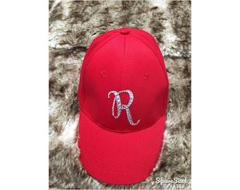 Elegant hat bling letter