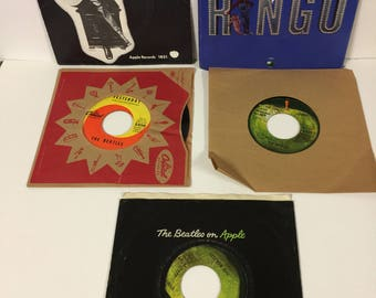 Vintage Beatles and Ringo Starr 45 RMP records