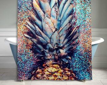 Abrtract Art Pineapple Shower Curtain 60x72 inch Bathroom Decor Home Decor