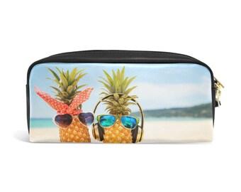 Pineapple Pencil Pouch, Pineapple Zipper Pouch, Pineapple Pencil Case, Back to School, Pineapple Print Bag, Pineapple Boy Girl Gift