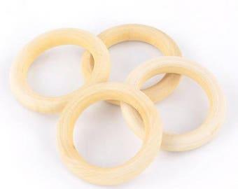 Rings for dream catcher 5.6 cm - set of 5 - wooden