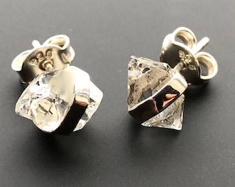 Stunning Herkimer Diamond 925 Sterling Silver Stud Earrings ~ AAA Grade ~ 2.4gm