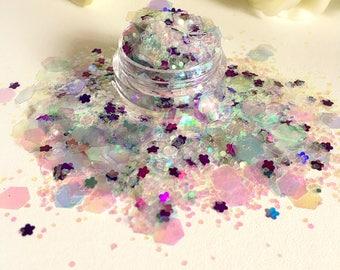 Flower Power festival loose glitter pot