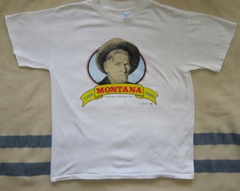 Vintage 80s Montana Centennial  Charles Russell Limited Edition T-Shirt